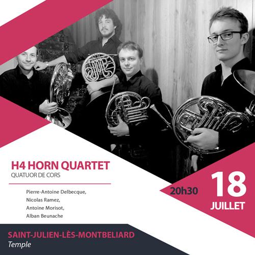 H4 Horn Quartet le 18 juillet à St Julien les Montbéliard