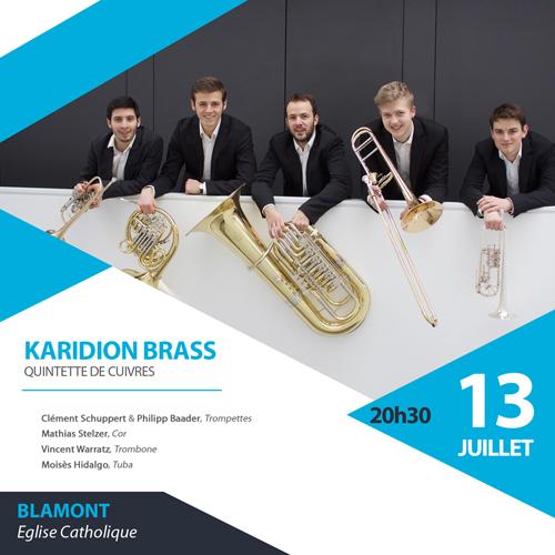 Karidion Brass le 13 juillet à Blamont